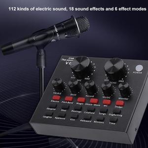 Image 2 - V8 Bluetooth Audio USB casque Microphone Webcast carte son en direct 112 types de diffusion sonore électrique pour téléphone ordinateur PC