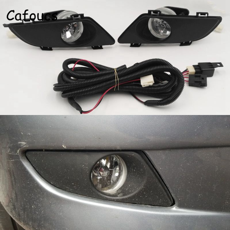 Cafoucs For <font><b>Mazda</b></font> <font><b>6</b></font> 2003 2004 2005 Front Fog <font><b>Lights</b></font> Halogen Lamp With Wiring Cable Kit image