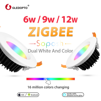 GLEDOPTO Recessed Ceiling Light Smart Downlight Zigbee 6W RGB CCT Retrofit LED