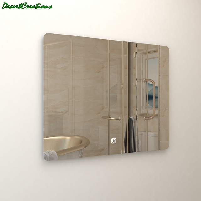 Morden Wall Mounted Mirror Bathroom Vanity LED Lighted Mirror For Making Up 4
