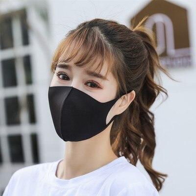 Black Mask Blue Pink Dust Mask On The Mouth Face Masks Anime Mascaras Pm2.5 Anti-fog Mouth Maska Unisex Travel Protection