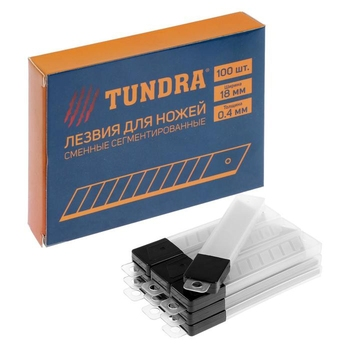 TUNDRA knife blades, segmented, 18 x 0.4 mm, 10 containers of 10 blades, 100 PCs. 1006516