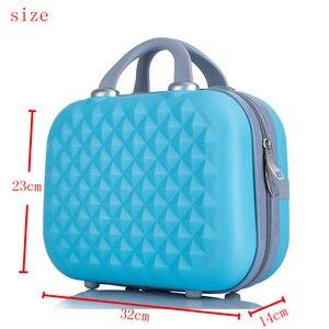 Image 2 - Professionale di bellezza ABS caso Cosmetico Per Le Donne sacchetto Cosmetico Dellorganizzatore di viaggio valigia caso di trucco Delle Donne scatola di trucco borse 14 pollici