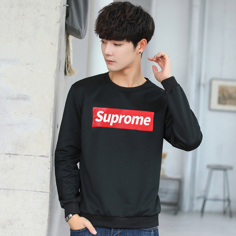 2018 Autumn Set Men's Suprome Hoodie Teenager Students Trend Korean-style Long Sleeve