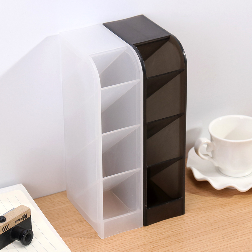 1PC Office Organizer Cosmetic Pencil Pen Holders Multi-Function 4 Grid Stationery Pen Container Office School Supplies
