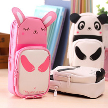 Cute Cartoon Pencil Case Students Lovely Animal Storage Makeup Pen Bag Stationery SP99