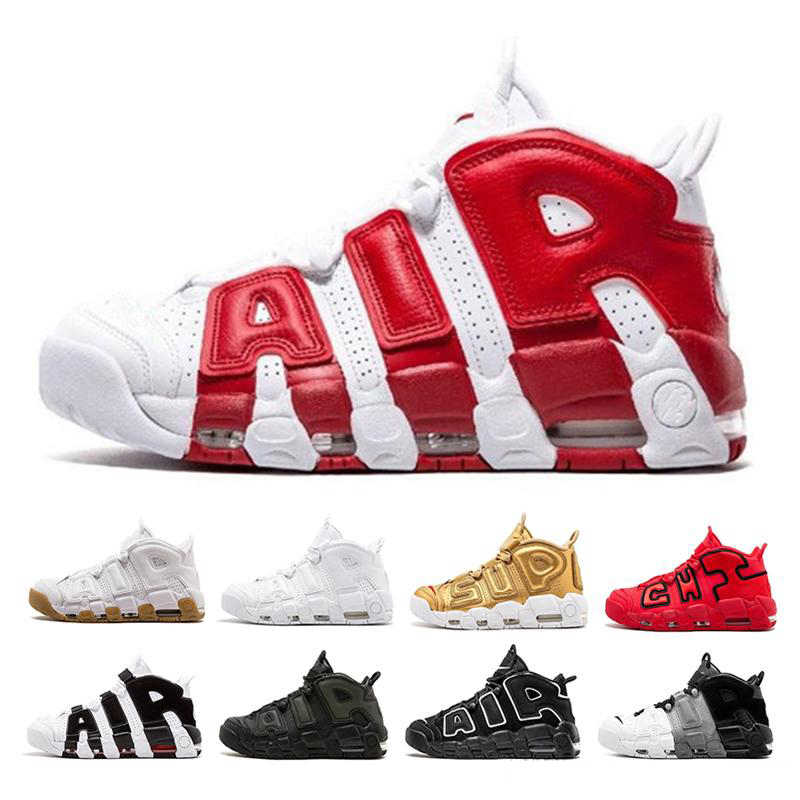 Uptempo Mens Basketball Shoes For Women 96 QS Olympic Varsity Maroon 3M Scottie Pippen Sports Sneakers Size 36-46