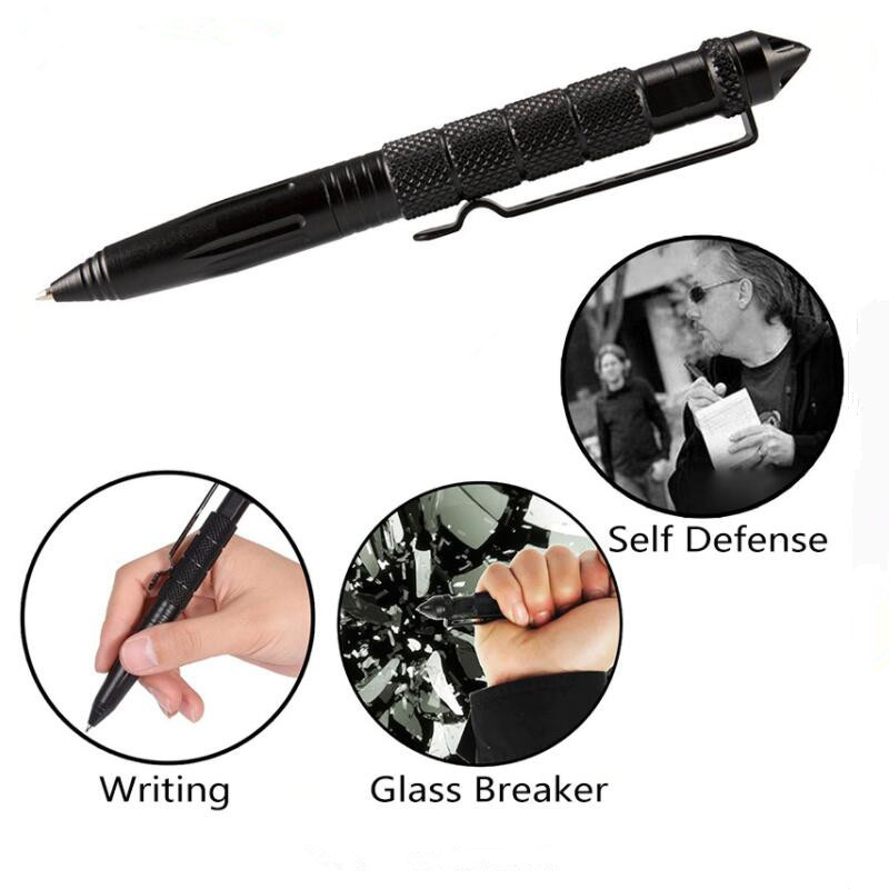 Multifunctional Tactical Pen Self Defense Weapons Glass Breaker Aluminum Alloy EDC Tool Survival Kit Outdoor Emergency Kit Pen