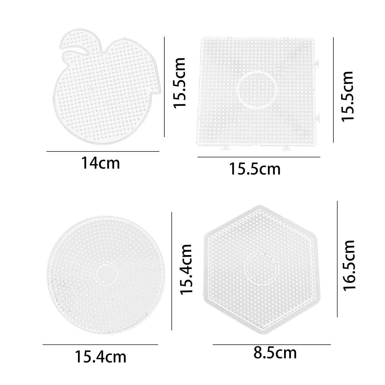 4 шт. 5 мм Peg доски большой прозрачный предохранитель бусины доски Peg доски шаблон развивающий Радуга 3D пазл, игрушки для детей дири корабль Бисер Подарок