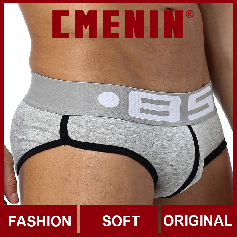 CMENIN BS Cotton Comfortable Mens Briefs Underwear Shorts Fashion Solid Innerwear Sexy Gay Men Underwear Bikini Men Briefs Gay