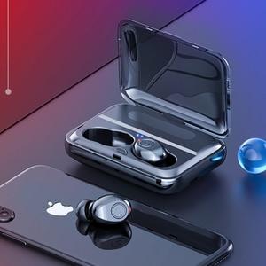 Image 4 - Led ディスプレイ 1200mA 電源銀行ワイヤレス Bluetooth 5.0 イヤホン防水イヤフォン 5D ステレオ Bluetooth すべてのスマートフォン