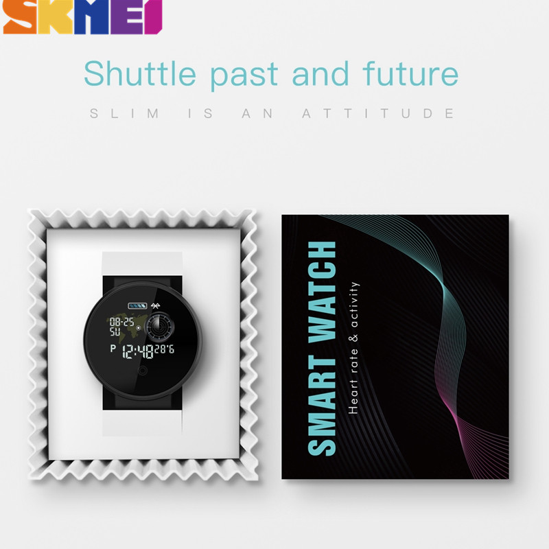 SKMEI Digitale di Sport Degli Uomini Della Vigilanza di Bluetooth della Frequenza Cardiaca Orologi Impermeabili Calorie Passo del GPS Inseguitore di Fitness Orologio Da Polso Reloj B36M - 6