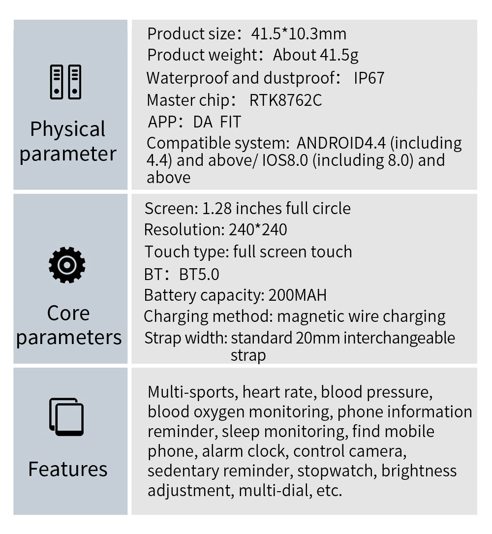 H7ff095fddcbb4379b35410a949adf72bZ COLMI V23 Women Smart Watch Full Touch Fitness Tracker IP67 Waterproof Blood Pressure Smart Clock Men Smartwatch