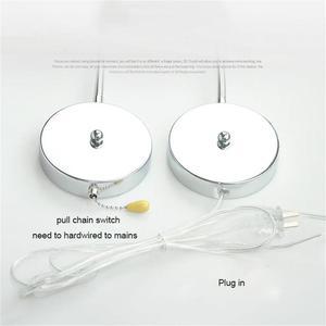 Image 3 - الصناعية 5 واط Gooseneck السرير القراءة الخفيفة ، الجدار/اللوح الأمامي التوصيل في LED معرض الفن عرض مصباح مع سلسلة بوسل التبديل مصابيح