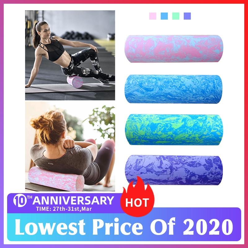 Pilates Foam Roller 45/60cm Trigger Point EVA Massage Roller Muscle Tissue Fitness Gym Yoga Pilates Sports Roller Yoga Roller