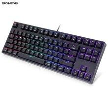 SKYLOONG GK61 SK87 87 touches clavier mécanique de jeu échange à chaud sans fil Bluetooth rvb rétro éclairé clavier ABS Keycaps pour PC/MAC