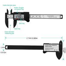 Calibre de exibição digital vernier 0-100mm caliper lcd digital eletrônico vernier bússola micrômetro ferramenta de medição precisão
