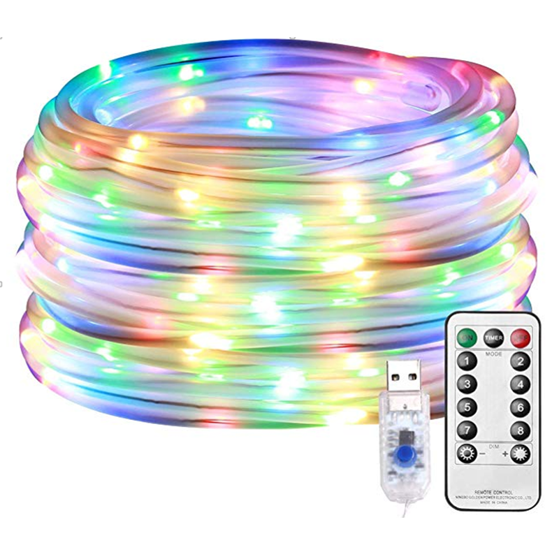 12M USB LED String Lights Indoor Fairy Lights Lamp Holiday Garland Light Remote Control Christmas Wedding Party Club Decoration