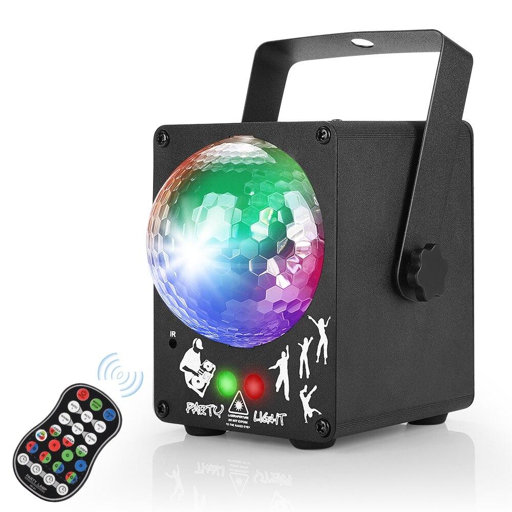 LED disko lazer ışığı RGB projektör parti ışıkları 60 desenler DJ sihirli top lazer parti tatil noel sahne aydınlatma etkisi