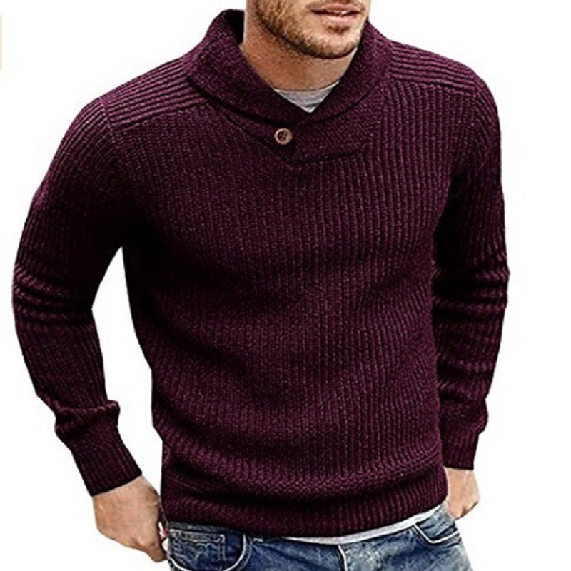 Winter Knitted Sweater Men Long Sleeve Mens Sweaters Coat Outerwear Sweater Business Man Sweaters Coats European Style 2020 A368