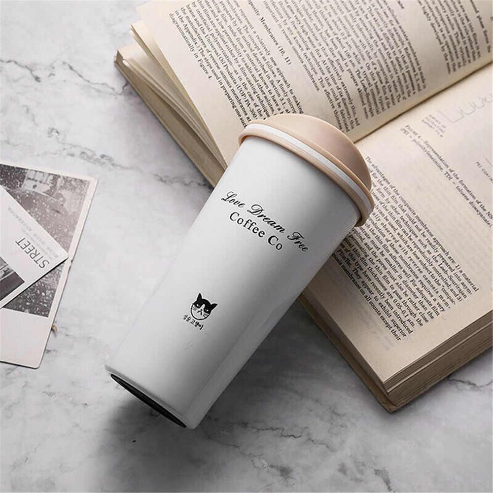 500ml taza de café de acero inoxidable para coche a prueba de fugas aislante termo taza de coche portátil de viaje taza de café accesorios de coche