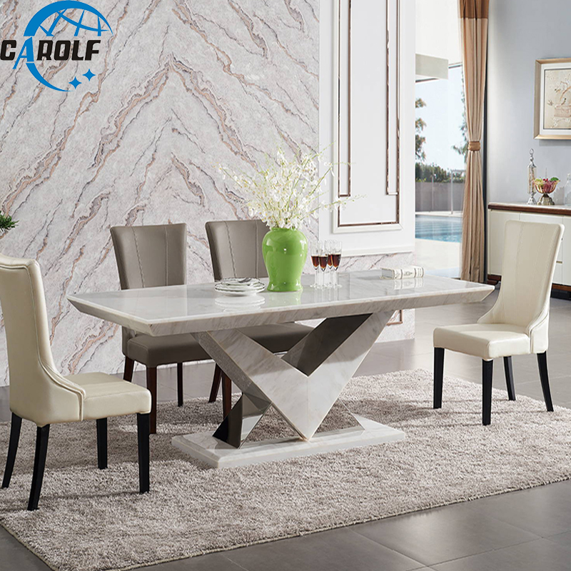 new arrival luxury dining room set 8 seats dining table marble dining tables