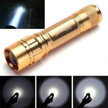 3000LM Zoomable Q5 LED Flashlight Bright Light 3 Modes Lamp use 18560 Battery Camping Outdoor Mini Waterproof LED Torches New 20(China)
