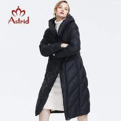 Astrid 2019 nuovo Inverno di arrivo giù donne giacca con un cappuccio sciolto abbigliamento di qualità tuta sportiva di spessore cotone cappotto di modo AR-7053