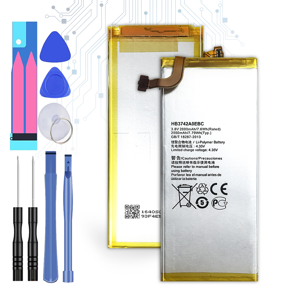 <font><b>Battery</b></font> For <font><b>Huawei</b></font> Ascend P6 P6-U06 P6-c00 P6-T00/ Ascend G6 G620 G621 <font><b>G620s</b></font> G630 <font><b>Battery</b></font> 2050mAh <font><b>HB3742A0EBC</b></font> with Track Code image