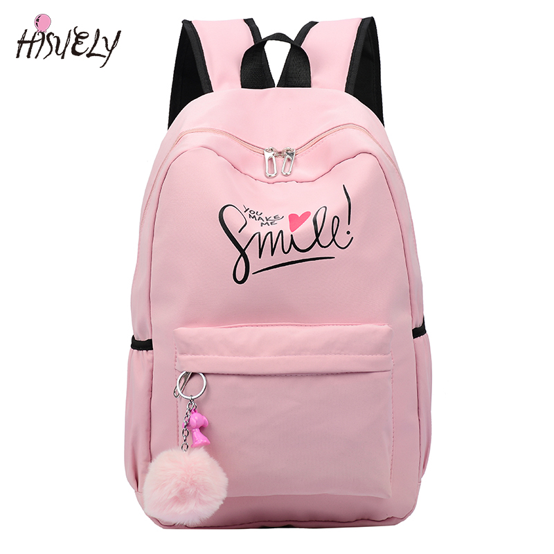 2019 Preppy Style Fashion Cartoon Women School Bag Travel Backpack For Girls Teenager Stylish Laptop Bag Rucksack Girl Schoolbag
