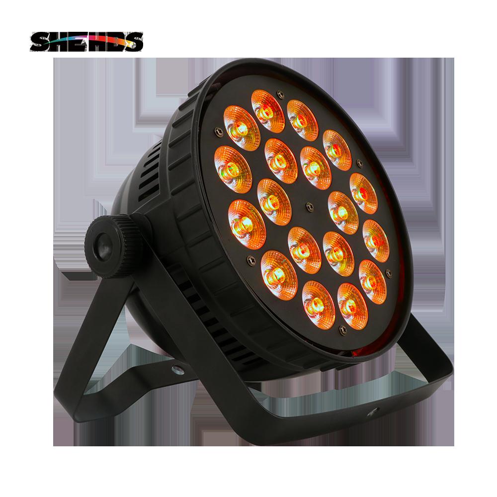 18x12W RGBW Led Par Light DMX Stage Lights Business Lights Professional Flat Par Can For Party KTV Disco DJ Uplighting