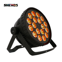 18x12W RGBW Led Par Light DMX Stage Lights Business Lights Professional Flat Par Can for Party KTV Disco DJ Uplighting