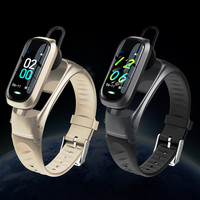 Reloj inteligente B9 con Bluetooth, pulsera con auriculares, control del ritmo cardíaco y de la presión sanguínea, contador de pasos y resistente al agua