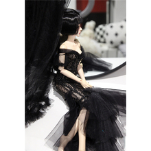 Wedding Dress Clothes Doll Accessories for 1/3 1/4 1/6 BJD Dolls - Black No Doll 1 3 1 4 1 6 bjd dolls clothes fashion white dress for bjd dolls toy clothing dress doll accessories