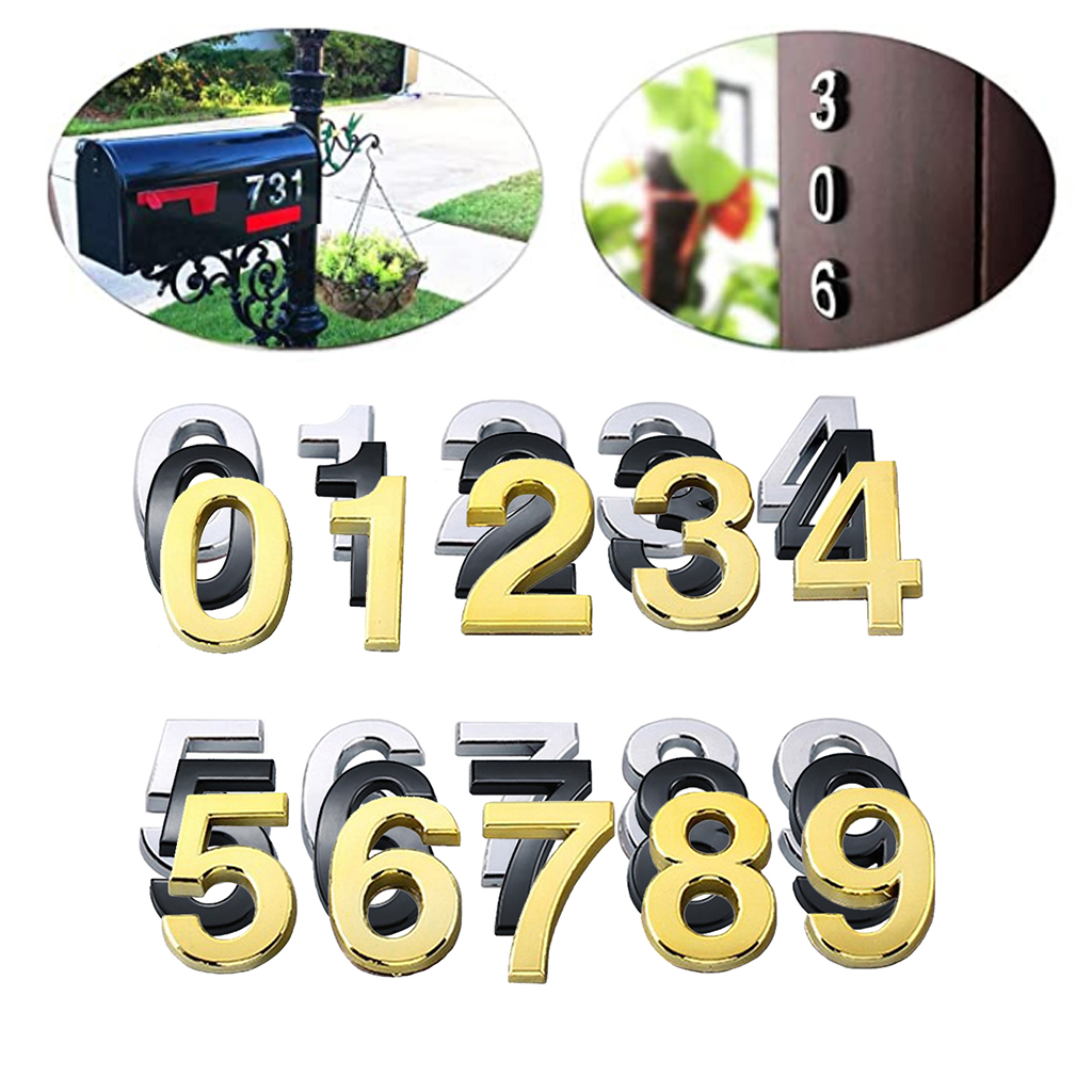 10pcs 2 Self Adhesive Door House Numbers Street Address Door Plaques Numbers For Residence And Mail Box Signs Pack 0 To 9 Door Plates Aliexpress