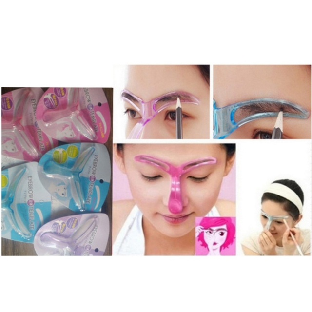 B Eyebrow Stencils Thrush Aid Makeup Tools Brow Stencil Woman Plastic Convenience Brow Tools 2