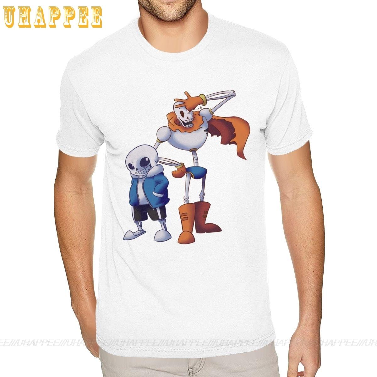 T-shirt homme à la mode, Sans et Papyrus, Undertale, Anime 5XL