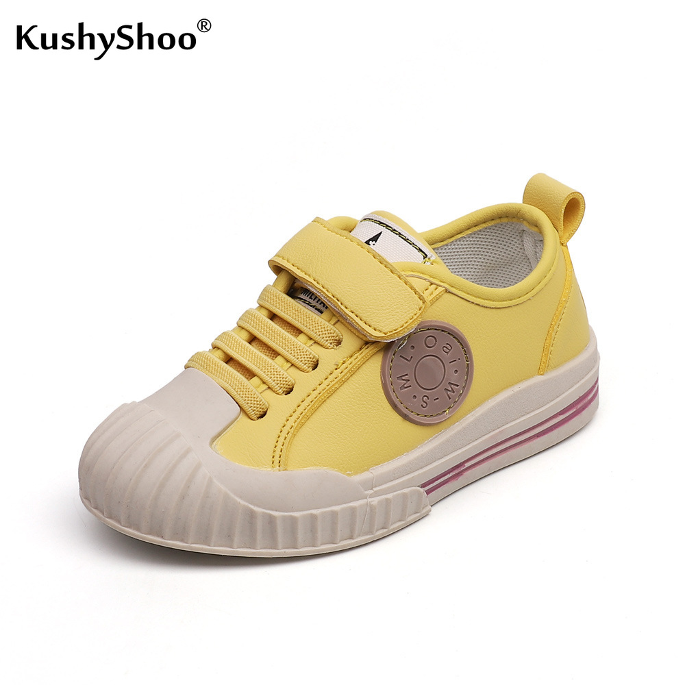 KushyShoo Autumn Kids Shoes Children Korean Soft Bottom Candy Color Hook And Loop Sneakers Toddler Girls Sneakers Tenis Infantil