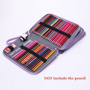 Image 5 - PU หนังดินสอกรณี 184 หลุมความจุขนาดใหญ่ดินสอสีกล่องอเนกประสงค์ Pencilcase สำหรับอุปกรณ์ศิลปะของขวัญ