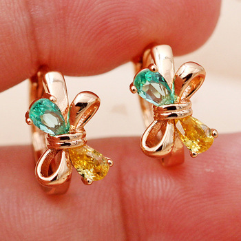 Fashion Jewelry Women s earring Bohemian Hoop Earrings Gold Hoops Earrings red green Zircon Earrings Style.jpg 350x350 - Fashion Jewelry Women's earring  Bohemian  Hoop Earrings Gold  Hoops Earrings  red green Zircon Earrings  Style accessories
