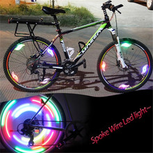 Bicycle Spokes Light With Battery Mountain Bike Led Light Safety Bike Wheel Lights Three Mode Bicycle Flash Lights Cycling Parts стоимость