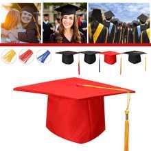 Sombrero de universidad, graduación de Doctor Chancellor, gorra de tablero, fiesta de disfraces con borla
