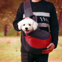 Pet-Dog-Carrier Bag Outdoor Travel Handbag Pouch Mesh Single Shoulder-Carrier-Sling-Bag Comfort Travel Shoulder Bag for Dogs S/L