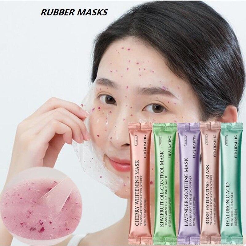 Hot DIY SPA Collagen Rose Hyaluronic Acid Soft Mask Powder Face Mask Anti Aging Anti Wrinkle Peel Off Rubber Facial Mask