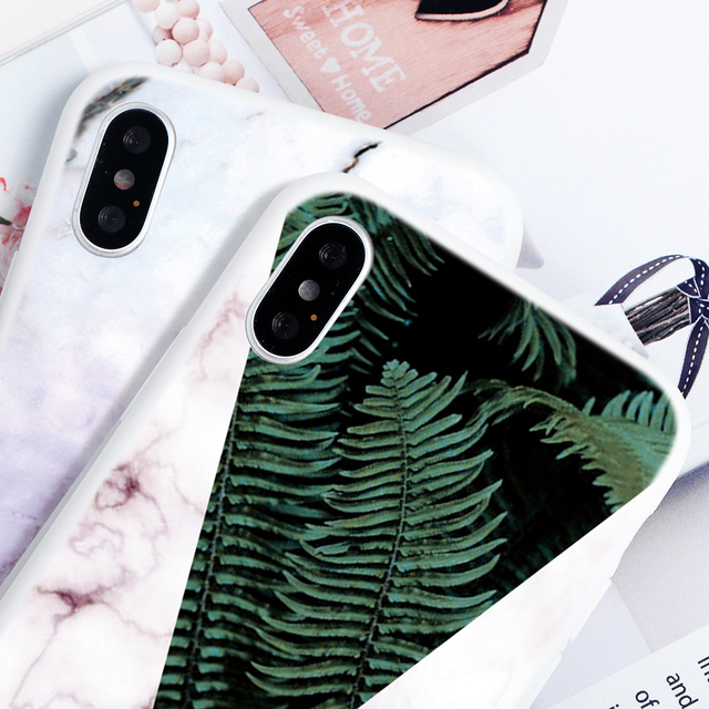 Marble Flower Soft TPU Capa Cases For iPhone 11 Pro Max For iPhone XS Max X XR 7 8 6 6S Plus 5 5S SE 2020 11Pro Case Print Coque 3