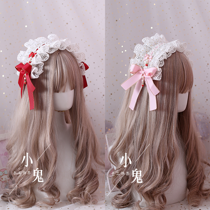 Hand Made Lolita Strawberry Derivative Small Headpiece Hair Band Kc Necklace Bracelet Strawberry Side Clip Hair Accessories