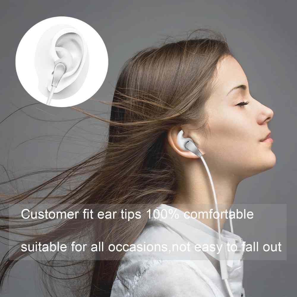 الجملة ELFMIC 3.5 مللي متر السلكية في الأذن سماعات الأذن hifi سماعات رئيس الهاتف مع هيئة التصنيع العسكري لابل آيفون شاومي هواوي سامسونج