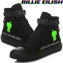 Billie Eilish Canvas Shoes For Women Causal High Heel Fashio