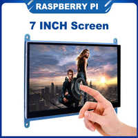 ITINIT R38 7 inch Raspberry Pi 4B /3B+/3B Touch Screen 16:9 LCD HDMI Display |Holder also for PC Laptop Nvidia Jetson Nano