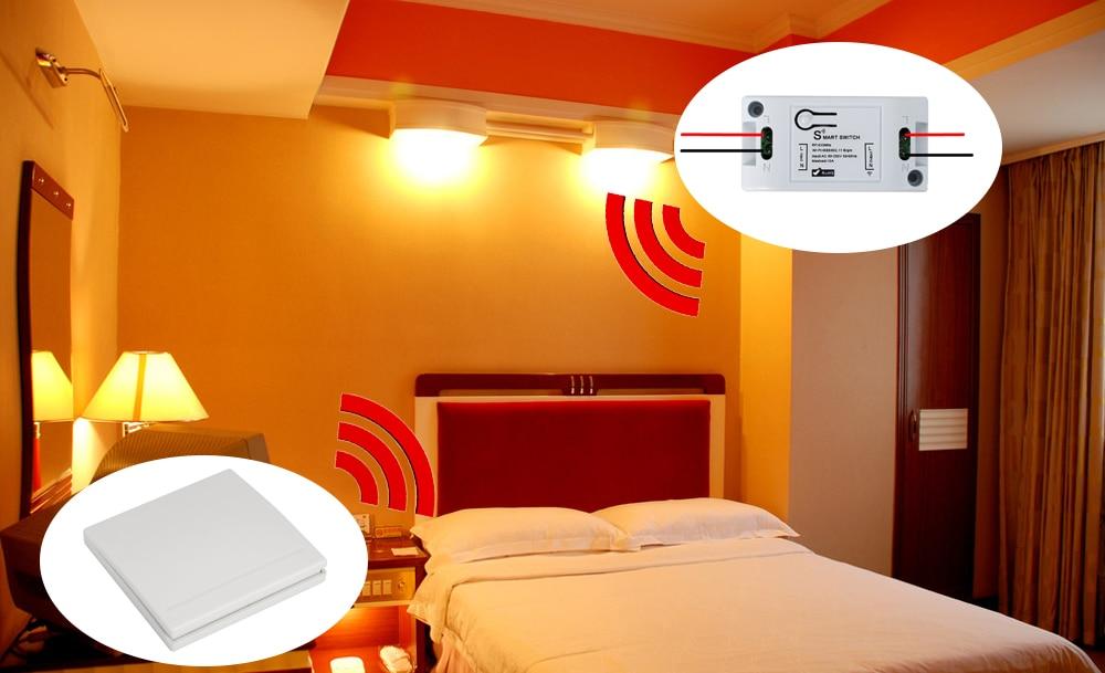 H7ff2900ab3704ec1bf9efb1d617c6fedI - QIACHIP Smart Home Wifi Switch 10A 2200W 433Mhz Wireless RF Remote Control Switch For Alexa Google Home Timer Automation Module